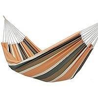Cotton hammock, 'Rio Stripe' (single) - Single Striped Cotton Hammock from Brazil