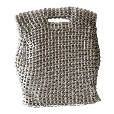 Silvery Brazil Eco-Art Recycled Pop-Top Handle Handbag