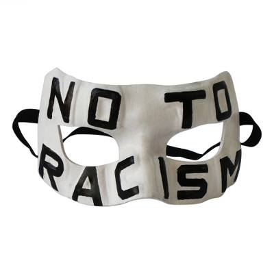 Anti-Racism Leather Mask from Brazil