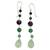 Multi-gemstone dangle earrings, 'Balance and Clarity' - Sterling Silver and Multi-Gemstone Earrings (image 2a) thumbail