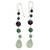 Multi-gemstone dangle earrings, 'Balance and Clarity' - Sterling Silver and Multi-Gemstone Earrings (image 2b) thumbail