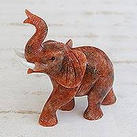 Calcite sculpture, 'Ginger Elephant'