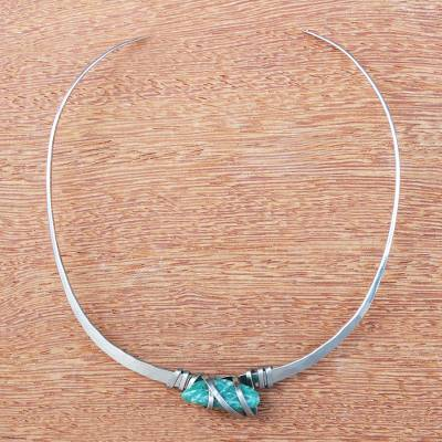 Amazonite collar necklace, Fresh Water