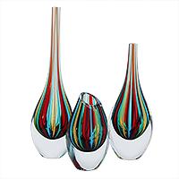 Handblown Vases At Novica