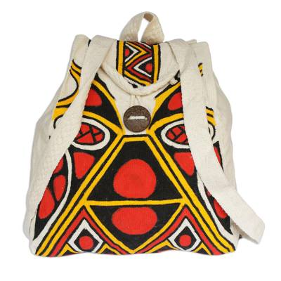 Hand Crafted Pataxo Motif Backpack