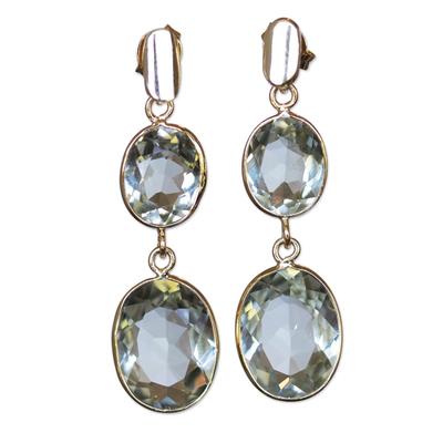 10 Carat Prasiolite Earrings