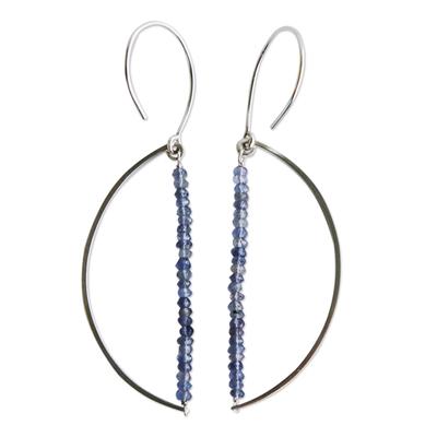 Natural Iolite Dangle Earrings
