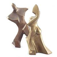 Bronze sculpture, 'Dancing Couple' - Bronze sculpture