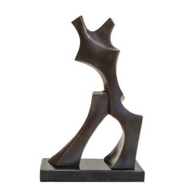 Bronze sculpture, 'Conquistador' - Brazilian Abstract Bronze Sculpture
