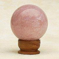 Rose quartz love crystal ball (medium)