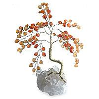 Gemstone tree, 'Agate Wealth' (small) - Unique Brazilian Agate Sculpture (Small)