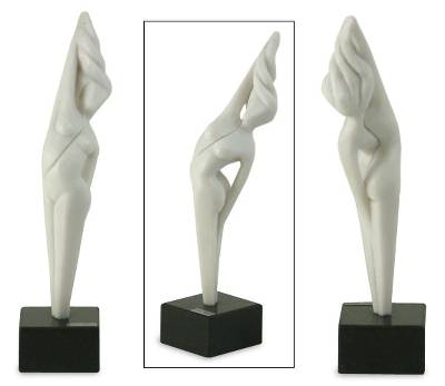 Marble resin sculpture, 'Victory' - Marble resin sculpture