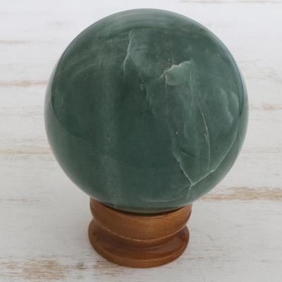 Quartz ball, 'Green Healer' - Quartz ball