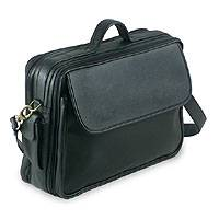 Leather laptop case, 'Notorious' (black) - Leather laptop case