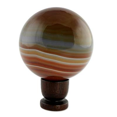 Agate ball, 'Superhero' - Agate ball