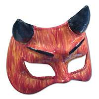 Leather mask, 'Devil' - Leather Carnaval Mask