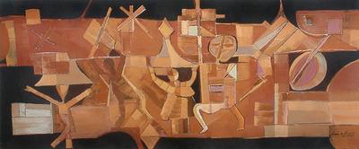 'Procession of the Divine' - Original Brazilian Fine Art Painting