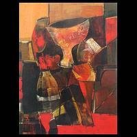 'Memories of Spain' - Acrylic Cubist Painting