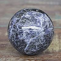 Sodalite ball, 'Blue Planet' - Fair Trade Sodalite Gemstone Sculpture