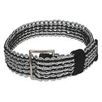 Featured review for Soda pop-top belt, Wide Black Chain Mail