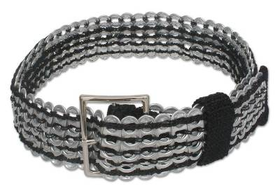 Soda pop-top belt, 'Wide Black Chain Mail' - Soda pop-top belt
