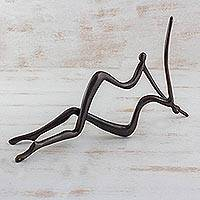 Bronze sculpture, 'Undulations' - Bronze sculpture