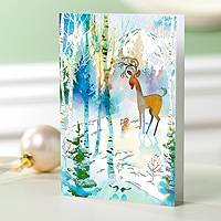 Holiday greeting cards, 'Watercolor Nature' (set of 12) - UNICEF Holiday Cards Boxed Set