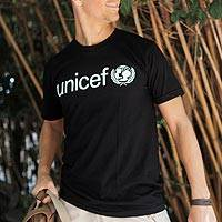 UNICEF Adult T-Shirts (Black) - Help Spread the UNICEF Message