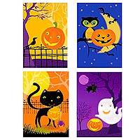 Halloween greeting cards, 'Happy Spooks' (set of 12) - Set of 12 Halloween Greeting Cards from UNICEF