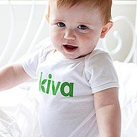 Kiva 100% cotton onesie, 'Kiva Baby' - 100% cotton infant one piece