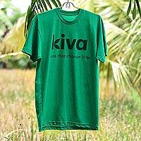 Kiva T-shirt, 'Loans that Change Lives' - An ultra-easy way to show Kiva pride