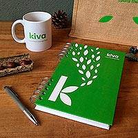 Kiva Notebook, 'Everyday' - Spiral bound with 120 blank pages at the ready