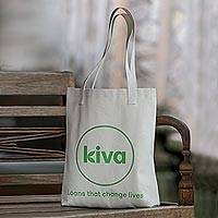 Kiva Denim Tote, 'Durable everyday bag' - Durable everyday bag