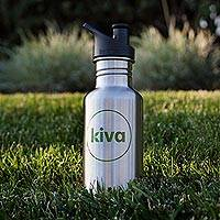 Kiva Klean Kanteen stainless steel bottle, 'Global Traveler' - Kiva Klean Kanteen stainless steel bottle