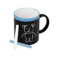 Ceramic mug, 'UNICEF Chalkboard Mug' - UNICEF Ceramic Chalkboard Mug with Chalk