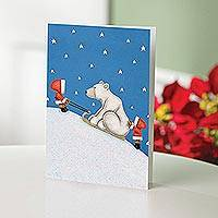 UNICEF holiday cards, 'Uphill Climb' (set of 12) - Uphill Climb UNICEF Cards (set of 12)