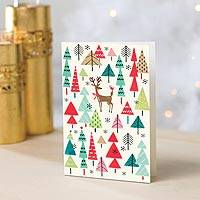 UNICEF holiday cards, 'Among the Trees' (set of 12) - UNICEF Holiday Cards with Tree Motif (set of 12)