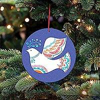 UNICEF holiday ornament-cards, 'Peace in Every Heart' (set of 10) - UNICEF Peace Dove Holiday Cards and Ornaments