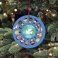 UNICEF holiday ornament-cards, 'Children Around the World' (set of 10) - UNICEF Holiday Ornament-Cards Boxed Set of 10
