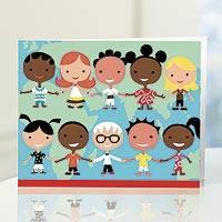 UNICEF everyday notecards, 'Children Around the World' (set of 12) - UNICEF Everyday Notecards Boxed Set of 12