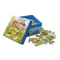 UNICEF jigsaw puzzle, 'A Day's Fun' - UNICEF Children's Jigsaw Puzzle in Storage Box