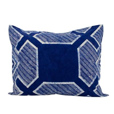 Blue Batik Print Hand Crafted Cushion Cover