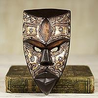 African wood mask, 'Mbara Hunter'