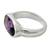 Amethyst cocktail ring, 'Purple Crown' - Three Carat Amethyst Cocktail Ring in Sterling Silver (image 2a) thumbail