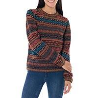 100% alpaca sweater, 'Autumn Medley'