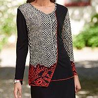 Featured review for Rayon knit top, Manjaa Weave