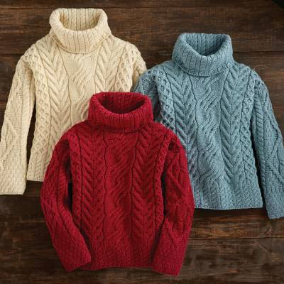 Wool turtleneck sweater, North Winds