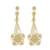Gold plated sterling silver filigree dangle earrings, 'Queen of the Golden Flowers' - Floral Gold Plated Silver Filigree Earrings from Peru (image 2a) thumbail