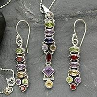 Amethyst and citrine jewelry set,