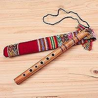 Wood quena flute, 'Peace Flute'